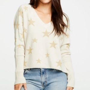Chaser cropped golden star pullover size S